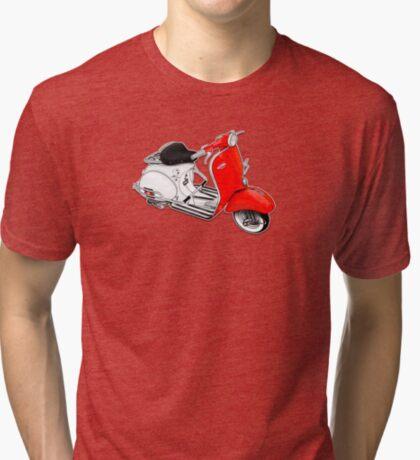 Scooter T-shirts Art: 1960 Allstate Scooter Design Tri-blend T-Shirt