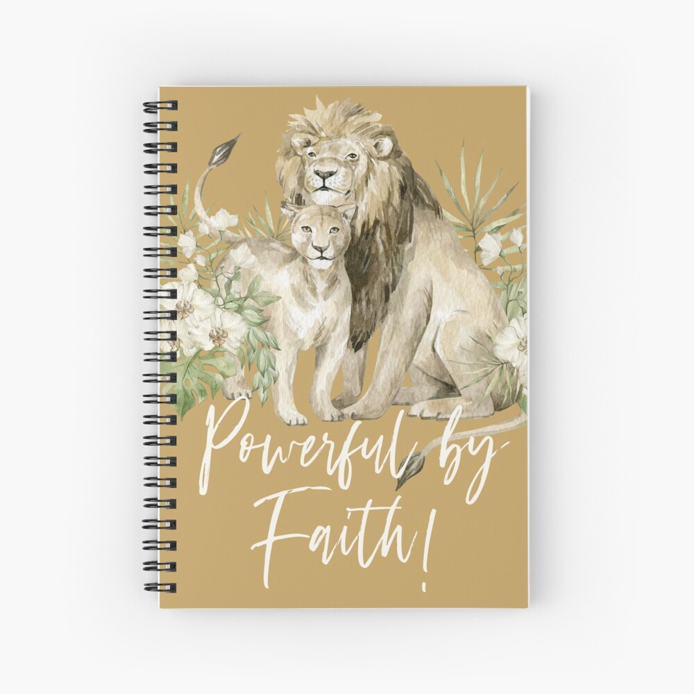 POWERFUL BY FAITH! (LION) Spiral Notebook