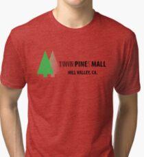 Twin Pines/Lone Pine Mall – BTTF, Optical Illusion Tri-blend T-Shirt