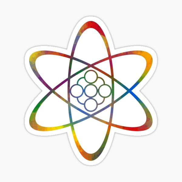 Rainbow Atom Sticker