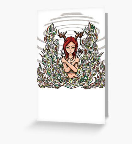 Daughter of Cernunnos Greeting Card