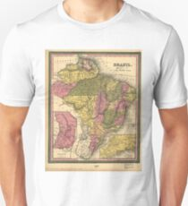 Vintage Map of Brazil (1846) Unisex T-Shirt