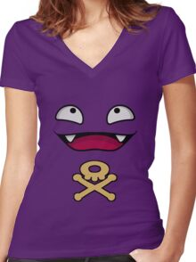 Koffing Women's Fitted V-Neck T-Shirt