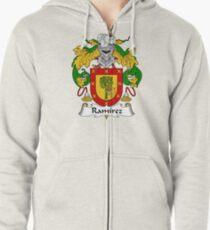 Ramirez Coat of Arms / Ramirez Family Crest Zipped Hoodie