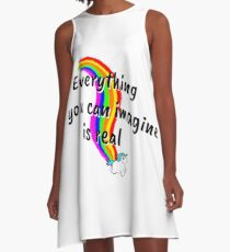 Rainbow of Unicorn is everything you want from life A-Line Dress