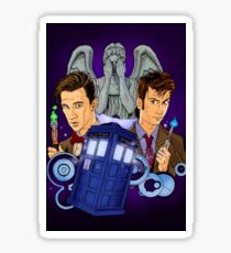 10th and 11th Doctor fan art Sticker