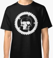 Sprocket Skull- White on Black Classic T-Shirt
