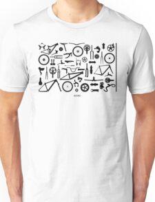 Bike Parts Landscape by Sooko Unisex T-Shirt