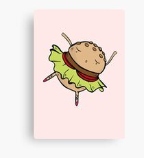 Burger Dance Canvas Print