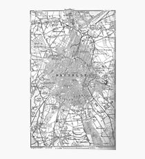 Vintage Map of Brussels Belgium (1905) Photographic Print