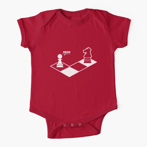 funny chess shirt chess player  Short Sleeve Baby One-Piece