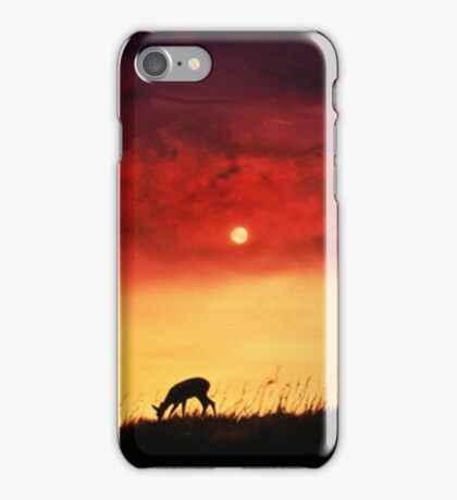 Stag and Deer at Sunset iPhone Case/Skin