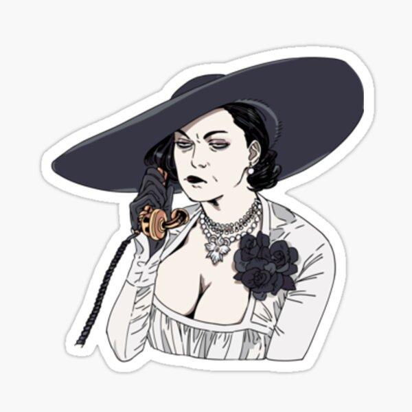 Lady Dimitrescu Pout    Resident gift   Resident T-Shirt Sticker