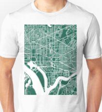 Washington DC Map Art  Unisex T-Shirt