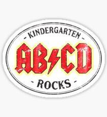 Vintage Kindergarten Rocks - light Sticker