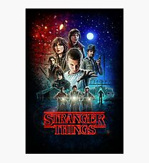 Stranger Things Poster Photographic Print