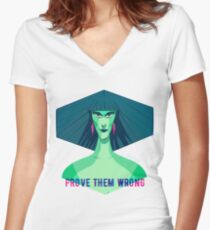 Prove Them Wrong Women's Fitted V-Neck T-Shirt