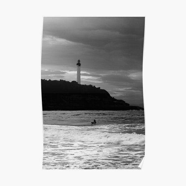 Lone Surfer Biarritz Poster
