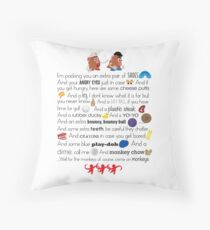Mr. and Mrs. Potato Head Throw Pillow