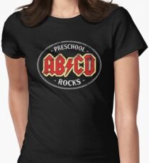 Vintage Preschool Rocks - dark Womens Fitted T-Shirt