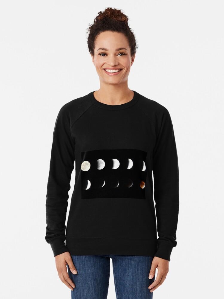 Alternate view of Supermoon Lunar Eclipse Lightweight Sweatshirt