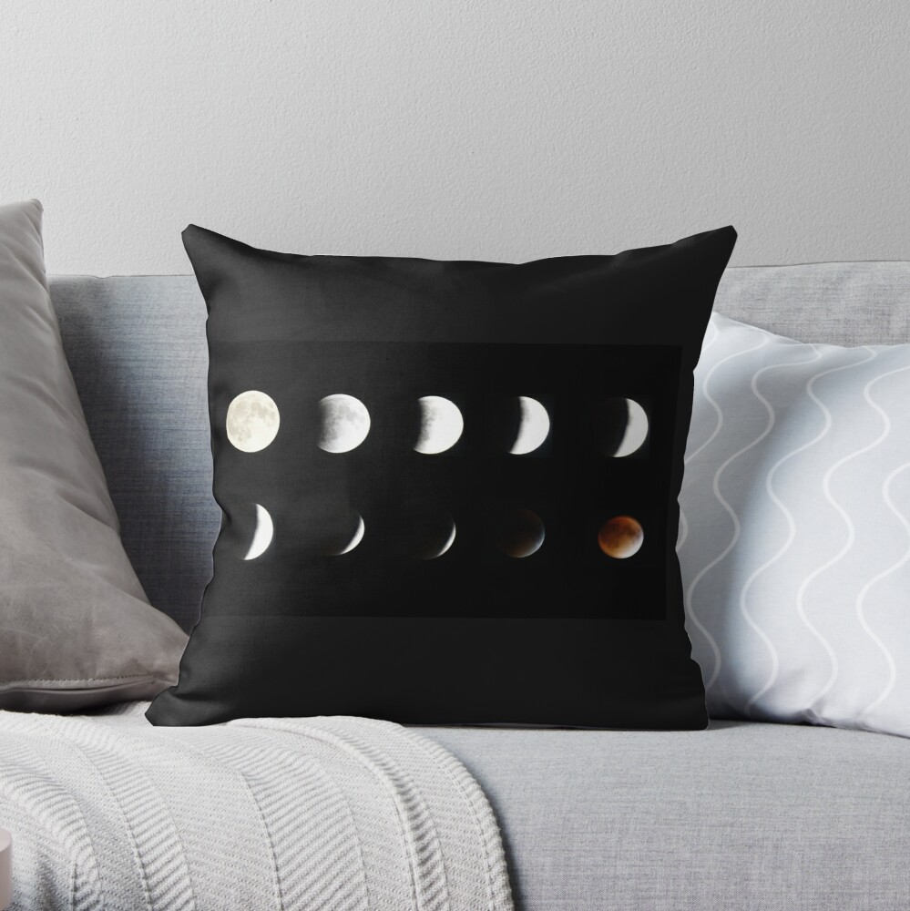 Supermoon Lunar Eclipse Throw Pillow