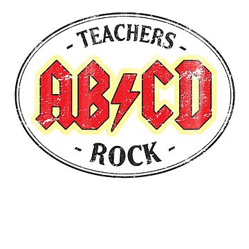 Vintage Teachers Rock - light by medallion
