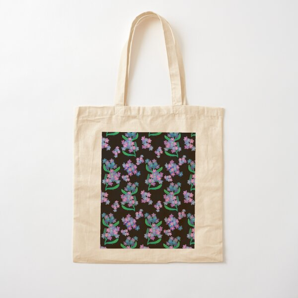 Forget Me Not Cotton Tote Bag