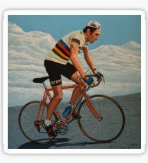 Eddy Merckx painting Sticker