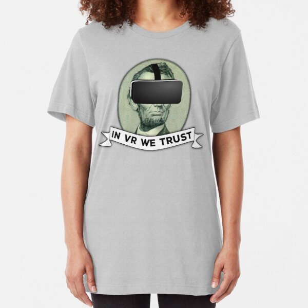 Funny Virtual Reality Player's Cool VR Parody (green) Slim Fit T-Shirt