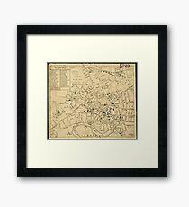 Vintage Map of Cambridge Massachusetts (1880)  Framed Print