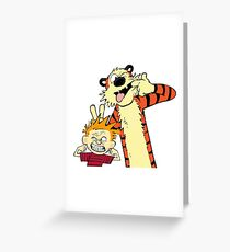 calvin and hobbes 2 Greeting Card