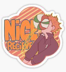 Nice recieve, Hinata Sticker