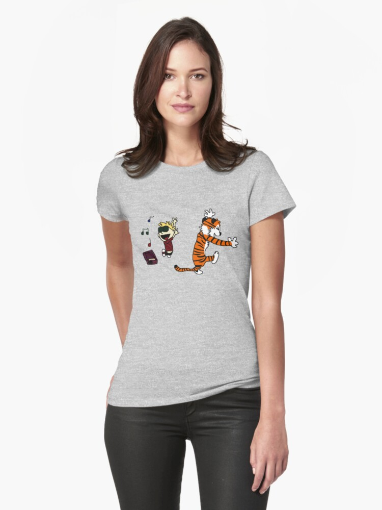 calvin and hobbes Womens T-Shirt Front