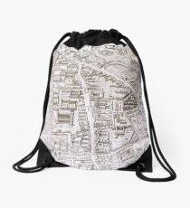 Vintage Map of Cambridge England (1574) Drawstring Bag