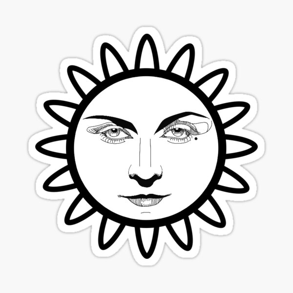 Flower face psychedelic Sticker