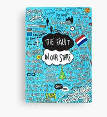 The Fault in Our Stars Collage Canvas Print