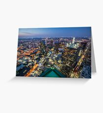 Bank of America Plaza Rooftop, Dallas Greeting Card