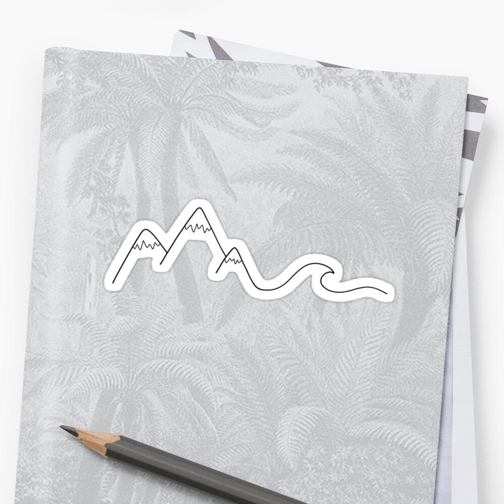 Mountain Wave Stickers
