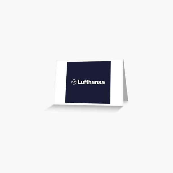 Lufthansa White Greeting Card