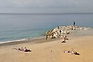 Basking on a Beach in Nice by Gerda Grice