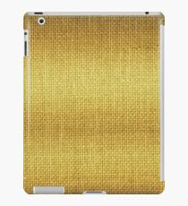 Natural Woven Golden Yellow Burlap Sack Cloth iPad Case/Skin