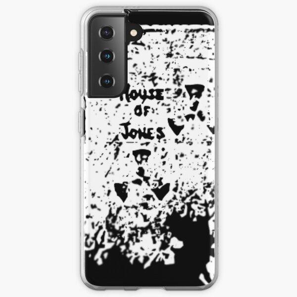 The House of Jones - white on black Samsung Galaxy Soft Case