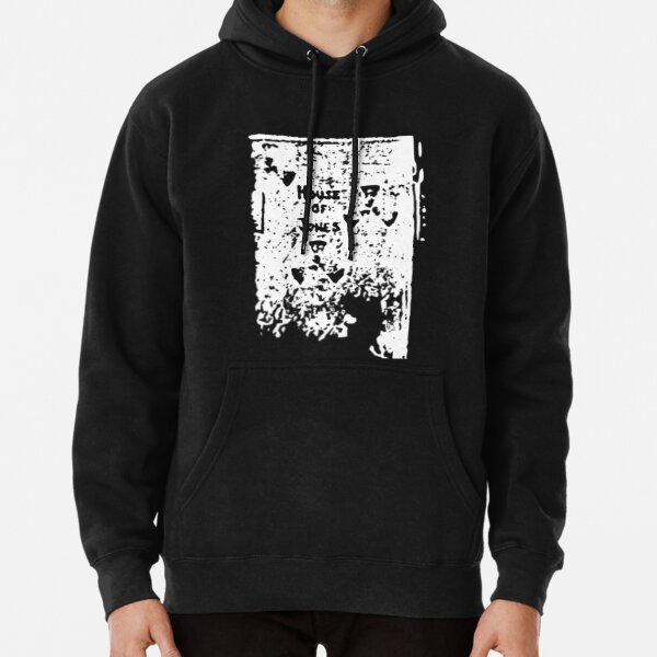 The House of Jones - white on black Pullover Hoodie