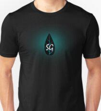 Glowing Blue Leaf Unisex T-Shirt