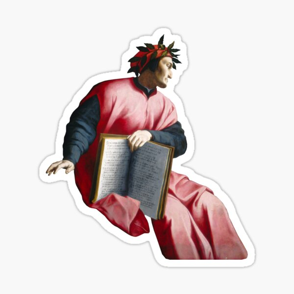 Agnolo Bronzino - Allegorical Portrait of Dante Sticker