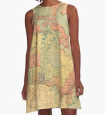 Vintage Map of Canada (1898) A-Line Dress