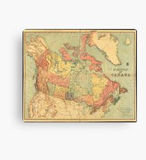 Vintage Map of Canada (1898) Canvas Print
