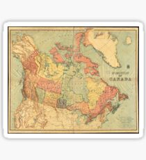 Vintage Map of Canada (1898) Sticker