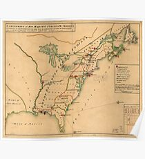 13 Colonies Map: Posters | Redbubble
